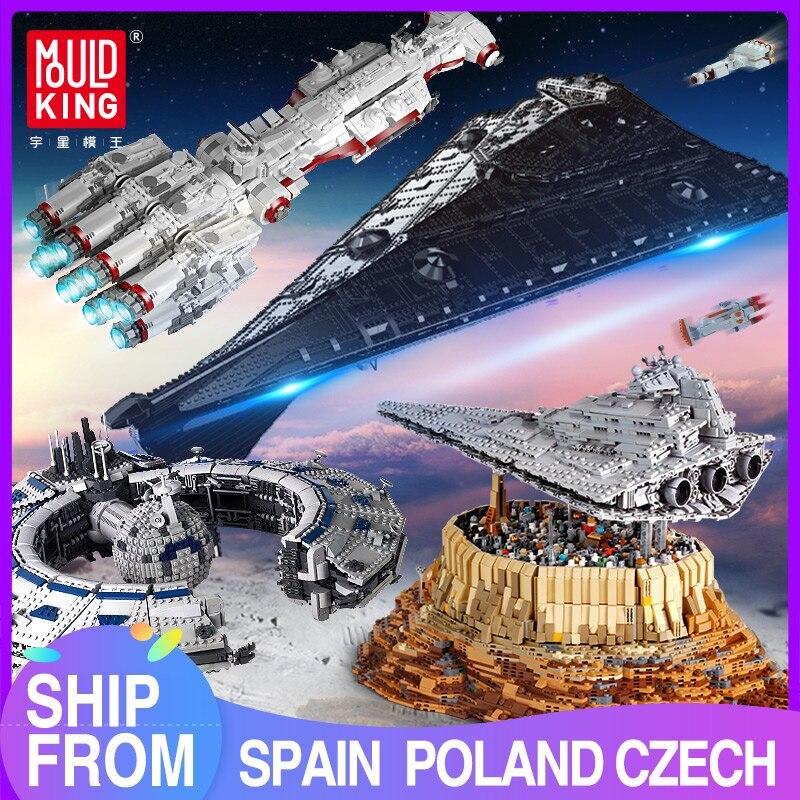Mould King Building Blocks Star plan MOC Eclipse-Class Dreadnought Set UCS Fighters Assemble Bricks Kids DIY Toys Birthday Gifts